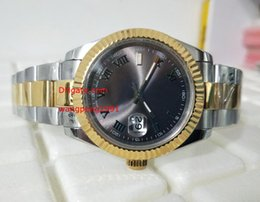 Wholesale Luxury Watch 18k Gold Sapphire - 2017 Top Quality Luxury AAA Brand Sapphire 41mm 116300 18K Yellow Gold Grey Roman Dial Smooth Bezel Automatic Mechanical Mens Men's Watch Wa