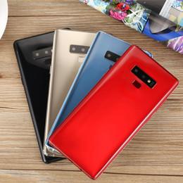 telefon tri sim Rabatt Entsperrt 6,3 Zoll 18: 9 HD Goophone Note 9 Echter Fingerabdruck Full Sreen 3G Smartphone ROM 8 GB RAM 1 GB Quad Core MTK6580 Android7.0 Smartphone