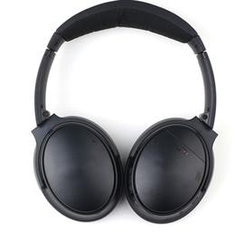 Bruit de casque bluetooth en Ligne-BO QC - 35 Casque sans fil Bluetooth Casque à réduction de bruit acoustique Noir Microphone de couleur argentée, rechargeable Bonne écouteur stéréo
