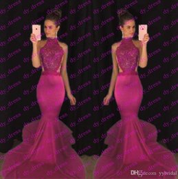 Wholesale Cute Images - 2017 sexy elegant cute lace fabric prom dresses mermaid burgundy evening formal gowns long length abendkleider