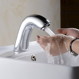 Wholesale Touch Free Sensor Tap - Brass Material Infrared Sensor Toilet Sink Tap Hot And Cold Automatic Hands Touch Free Sensor Bathroom Faucet