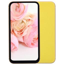etiqueta bluetooth Rebajas 6.1 pulgadas All Screen Goophone XR V3 Clone 3G WCDMA 1GB 8GB Quad Core MTK6580 Face ID Android 7.0 GPS Marco de metal Smartphone Etiqueta verde Sellado