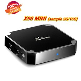 reproductor multimedia 3g Rebajas Nueva llegada Android7.1 TV BOX X96 MINI Amlogic S905W Quad-core 2GB / 16GB 4K H.265 WIFI reproductor multimedia inteligente
