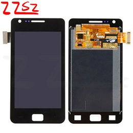 Wholesale S2 Screen Replacement - Original For Samsung Galaxy S2 i9100 LCD Digitizer Touch Screen Replacement Display With Full Assembly white black with 24 months warranty