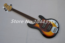 Wholesale bass guitar stingray - 3TS 5 strings bass music stingRay electric bass guitar HOT SALE