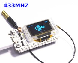 Wholesale Arduino Board Kit - 433MHZ ESP32 LoRa SX1278 esp32 led 0.96 Inch Blue OLED Display Bluetooth WIFI Lora Kit 32 433MHZ Development Board for Arduino
