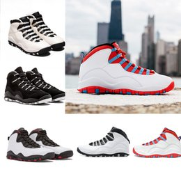 Wholesale christmas stocking boxes - In stock Paris NYC CHI Rio LA Hornets City Pack Vivid Pink Mens Basketball Shoes Sports Sneakers 10s With Box xz127