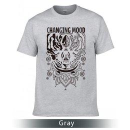Mudança Mood T-Shirts, Camisetas de alta qualidade, Round Neck Cotton T-Shirts. de Fornecedores de mudança de humor