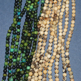 Perles 6mm semi-précieuses en Ligne-Perles rondes de forme semi-précieuse 6mm, Livraison gratuite! Trou 1.0mm pour bijoux, prix usine! Environ 128 pièces par lot