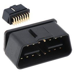 pin porsche Sconti OBD-II 90 Gradi 16 Pin Maschio Connettore Prese a filo Connettore Spina con perno di doratura CDT_10Y