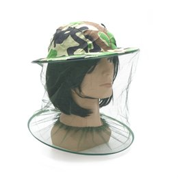 bug net hats Coupons - 1pcs Mosquito Green Camouflage Insect Bug Mesh Head  Net Face Protector 3342637af272