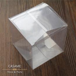 limpar caixas de pvc para doces Desconto 50 pçs / lote favores do casamento favores caixas de caixas de PVC favores do casamento de chocolate caixa de doces quadrados quadrangle 5 * 5 * 5