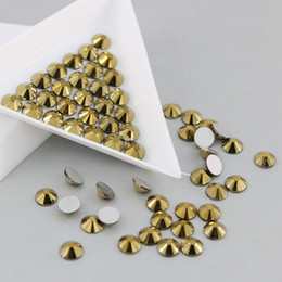 Wholesale Gold Nail Rhinestones - All Sizes Non Hotfix Rhinestones Flatback Glass Strass 3D Nails Decorations For Nail Art Designs (Ore Gold)