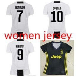 c360e41b4 shirts xl damen Rabatt Top Thai 18 19 Juventus Frauen fußball trikots DYBALA  RONALDO dame fußballhemd
