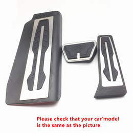 Wholesale bmw pedal cars - Car Organizer Accelerator Brake Pedal Cover Trim For BMW 7 Series 2016-2017 Stainless Steel Interior Accessories