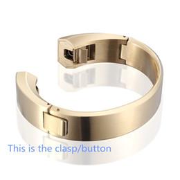 2019 accesorios reloj de pulsera Pulsera de reloj de metal de acero inoxidable de lujo correa de repuesto correa de reloj pulsera correa accesorios para Fitbit Alta alta calidad rebajas accesorios reloj de pulsera