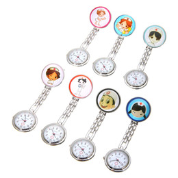 Шкентели для медсестер онлайн-Shellhard 1Pc Cute Lovely Lady Nurse Watch Unisex Doctor Medical Fob Pendant Pocket Pin Nurse Watches Brooch Clip Clasp