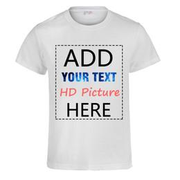 camisas diy impresión Rebajas Camiseta de bricolaje personalizada Imprimir  su propio diseño Logo de texto de 1a7ff4afac636