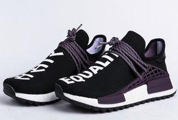 Wholesale pw blue - 2018 Pharrell Trai Equality AC7033 PW CC Indian Human race Black Purple Top Basf Version human race shoes men women sneakers