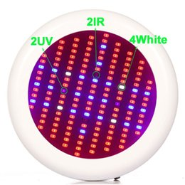 18w led grow light UK - MORSEN 6pcs 150W UFO LED Grow Light Full Spectrum SMD5730 Red Blue White UV IR For Hyfroponic Panel Light Aquarium Grow Tent#25