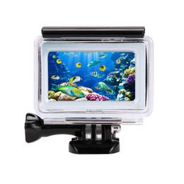 venta al por mayor de 35 m de buceo funda impermeable para Xiaomi Yi 4K 2 II cámara de acción Xiaoyi caso 4K Yi accesorios desde fabricantes