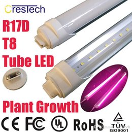 Wholesale T8 Grow Tube - Free shipping 25pcs Full Spectrum LED Plant Growing Light T8 LED Tube Lamp for Greenhouse and Indoor Plant Flowering Growing Pink Color