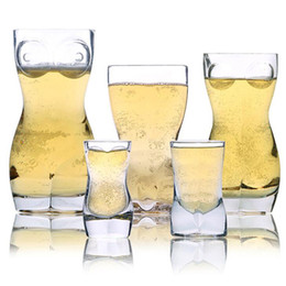 occhiali da cristallo Sconti Creativi bicchieri da vino trasparenti per uomo moda birra whisky cristallo bicchieri da vino per club party creativo tazza umana