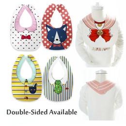 Wholesale Double Side Bib - New Design Baby Bibs Bandana 18 styles 100% Cotton Double Sides Available Boys Girls Infant Newborn Saliva Towel