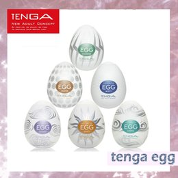 Wholesale man toys pussy - Hot sale TENGA Male Masturbator egg cup Sex Toys Silicone Pussy Egg Pocket Masturbator for Man Sex Products DHL 680009-2