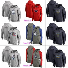 Wholesale Hoodie Ladies - 2018 Stadium Series Pullover Hoodie Jersey Mens Lady Washington Capitals Toronto Maple Leafs 100% Stitched Heather Gray Navy Hockey Jerseys