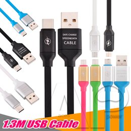 Wholesale Package Cable - USB For Samsung Cable Micro V8 Data Line 1.3M Colorful Pass Fast Charger Cables For Samsung Galaxy S8 Plus HTC With Package