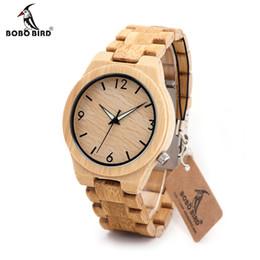 2019 японские часы марки BOBOBIRD D27 Natural All Bamboo Wood Watches Top  Men Watch Wth Japanese 2035 Movement For Gift скидка японские часы марки