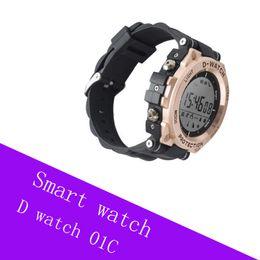 наручные часы для мужчин Скидка D-watch 01C Smart Watches Мужские спортивные часы мужские наручные часы вызов SMS уведомление удаленная камера наручные часы relogio masculino