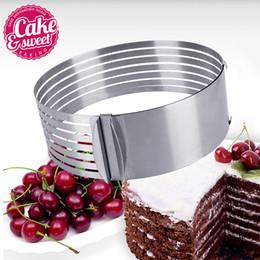Outils de confiserie en acier inoxydable Cookie Cutters Layer Cake Slicer 6-8
