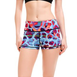 Wholesale Dance Shorts For Girls - LOVE SPARK 2017 Plus Size Workout Shorts For Women S To 4xL Blue Leopard 3D Print Girls Gym Dance Sport Blue Shorts