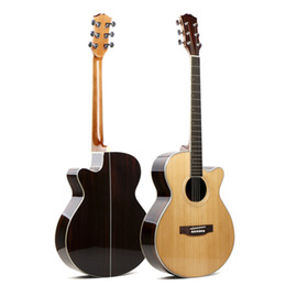 2019 cuerdas de guitarra hechas a mano Guitarra acústica hecha a mano de madera de contrachapado de pino rosa 40, guitarra acústica de acero de 41 pulgadas cuerdas de guitarra hechas a mano baratos