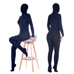 Wholesale Mummy Cosplay - Unisex stage Gym Stretch Elastic Full Bodysuit Mummy Sleepingbag Cosplay catsuit bodysuit fancy dress ASL4017 SML