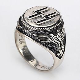 ninho de presentes Desconto Venda quente Autêntica 100% 925 Sterling Silver Jewelry 925 Estilo Punk Anel de Prata Homens Negros Engrave Jóias