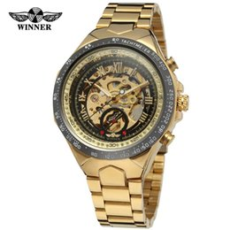Wholesale winner watches automatic - T-WINNER brand New fashion men's automatic mechanical watch hollow steel belt classic watch fashion watch party gift