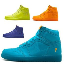 Wholesale fly halloween - Classic 1 Gatorade Basketball Shoes Men Mens Blue BHM OG Designer Fly Line 1s I Mike UNC High Skateboard Sport Homme Shoe Sneakers