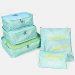 Paquete de almacenamiento de ropa online-6 Unids / set Travel Home Equipaje Bolsa de Almacenamiento de Ropa Organizador de Almacenamiento Bolsas de Cosméticos Sujetador Ropa Interior Bolsa de Almacenamiento de Bolsas 8 Color 30 paquetes