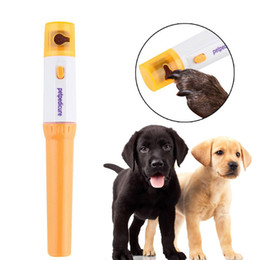 Wholesale Nail Trimmer Pet - Pedicure Tool Care File Electric Automatic Pet Grinder Pet Cat Puppy Paw Claw Toe Nail Grinder Grooming Trimmer Clipper c437