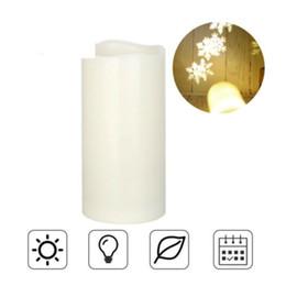 Movimiento temporizador online-Real Wax Moving Wickess LED Velas sin llama Pillar Lights Operado con temporizador y control remoto para regalos y decoración (Marfil