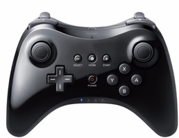 Controladores analógicos online-Para wiiu Wii para U Gamepad Pro Controlador de juegos de Gamepad Dual analógico inalámbrico Control remoto de USB Bluetooth Controlador remoto