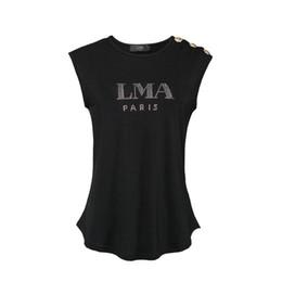 Wholesale women s rhinestone t shirts - Women's T-shirts Brand Clothing Fashion Rhinestone Printed T-shirt Female Top Quality Summer Short Tshirt for Women
