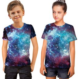 Wholesale Teen Boys T Shirt - 2018 New Paint splashing 3D printed t-shirt for boys or girls 6-20 years teens big kids t shirt children clotht summer animal printed