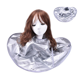 Wholesale wholesale hair styling capes - 1Pc Foldable Hair Cutting Cloak Umbrella Cape Special Hair Styling Accessory Salon Waterproof Barber for Salon Barber
