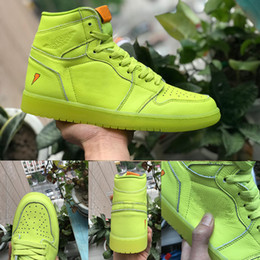Wholesale Retro Towels - (With Original Box and towel ) 2018 Top Quality Retro 1 Gatorade 1s Yellow Men Women Basketball Shoes VI All Suede Sneakers Eur 41-47