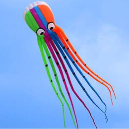 mosca calamar Rebajas Diversión al aire libre Deportes Alta calidad 8m Power Kite Software Octopus Flying Juguetes al aire libre Suave Kite de calamar sin marco