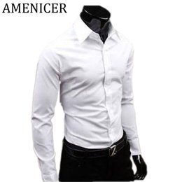 Wholesale China Fit Shirts - Wholesale-2017 Men Long Sleeve Social Slim Fit Shirts Social Man Checker Dress Shirt Military Imported-China Large Sizes Flannel Blouses